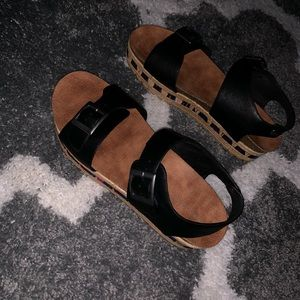 Black & Brown Bamboo Sandals